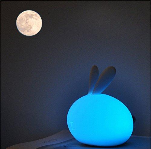 USB Kids Geschenk Baby Kinderzimmer Schlafzimmer Silikon Lampe Weiches  Licht Mini Weiß Lap Cute Schreibtisch Neben Touch Smart Tragbar Moon Night  Nachttisch ...