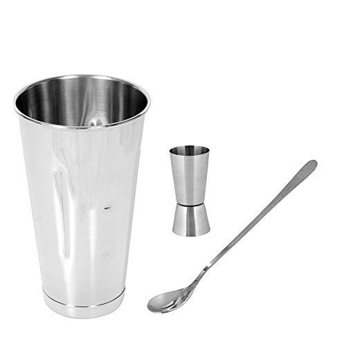 Kosma Ensemble de 3 Mélange de cocktail sans alcool Cocktail Set | Blender Smoothie | tasse tasse ( l'ensemble comprend : le Malt Tasse en acier inoxydable - 30oz, Peg mesure 30 x 60ml, 8 cuillère à m