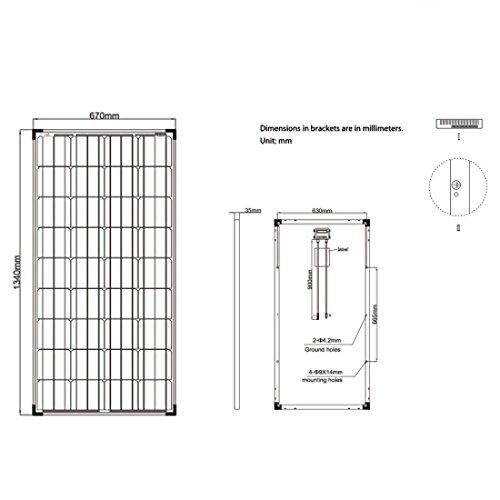 Offgridtec Solarmodul / panel Monokristallin, Solaranlage / zelle, 150 W, 001255 - 4