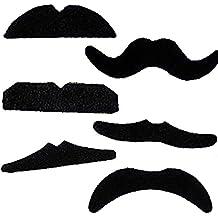 TRIXES Set de 12 Bigotes Autoadhesivos para Disfraz - Bigotes Postizos - Ideal para el Carnaval y Halloween