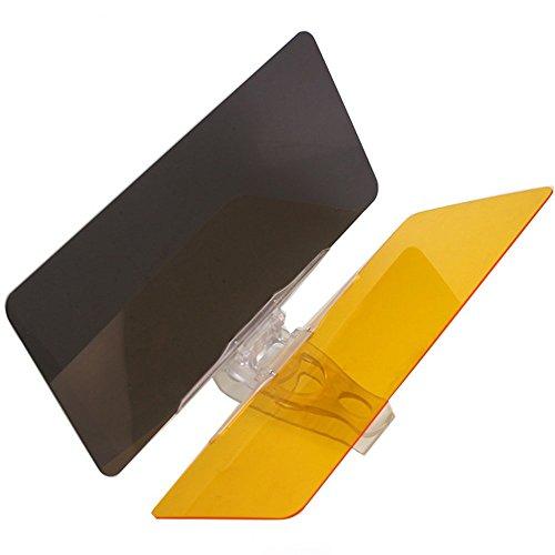 Mintice™ 2 in 1 Auto Sonnenblende Blendschutz Transparent Anti-Glare Glanz Glas für Tag und Nacht Sonnenschutz Sichtschutz Reinigungstuch Glotzen