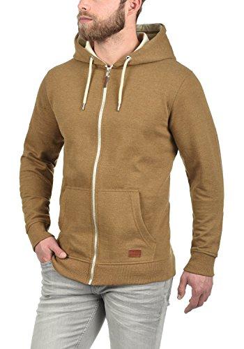BLEND Hulker Herren Sweatjacke Hoodie Kapuzen-Jacke Zip-Hood aus hochwertiger Baumwollmischung Meliert Dark Mustard (75116)