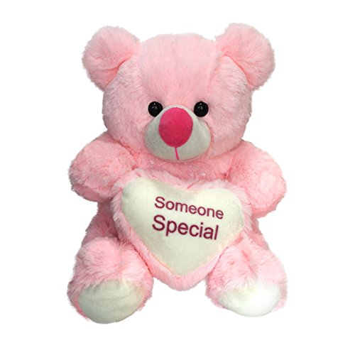 Ultra Plush Valentines Pink Teddy Bear Holding Heart - Someone Special  available at amazon for Rs.529
