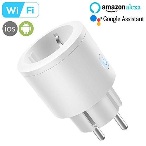 Intelligente WLAN Steckdose, InThoor Smart Plug Smarte Wifi Steckdose funktioniert mit Amazon Alexa [Echo, Echo Dot], Google Home und IFTTT mit App Steuerung überall und zu jeder Zeit, Kein Hub erforderlich (für iOS und Android)
