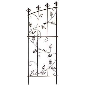 rankhilfe 140x51cm eisen rostoptik rankgitter rankspalier. Black Bedroom Furniture Sets. Home Design Ideas