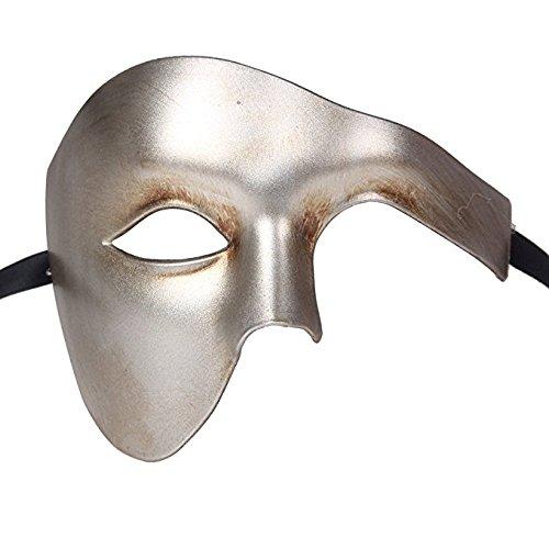 Qualit-Demi-Visage-Fantme-Vnitien-Masque-de-Mascarade-Partie-des-Yeux-Masque-Antique-Argent-Carnaval
