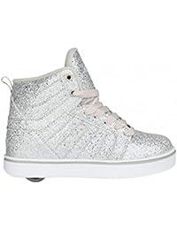 Heelys Uptown Hi-top zapatos–Plata Disco Glitter, UK 12jr / EU 31