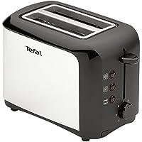 Tefal TT356110 Grille-pain 2 fentes Toaster Express Décongélation Réchauffage 7 Niveaux de Dorage 850W Inox et Noir