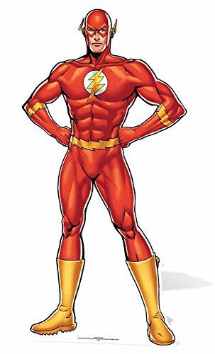 Star Aussparungen The Flash DC Comics Life Größe Pappe, Mehrfarbig -