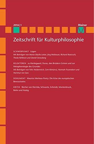 Lügen: Zeitschrift für Kulturphilosophie, Heft 2016/1