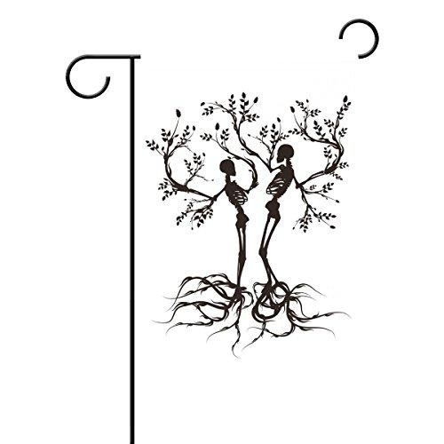 ee of Life Dekorative Garten Flagge Polyester für Home Garten Decor (Sugar Skull-fahne)