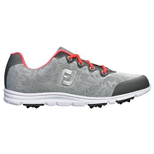 Footjoy Mädchen FJ Junior Girls Golfschuhe, Grau (Grey 48219), 35 EU
