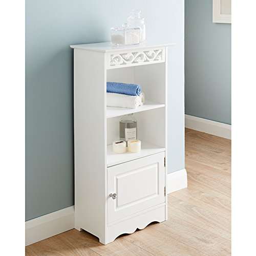Camille Free Standing Two Shelves And 1 Small Door Bathroom Storage Unit New Search Furniture