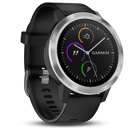Garmin vívoactive 3 GPS-Fitness-Smartwatch - vorinstallierte Sport-Apps, kontaktloses Bezahlen mit Garmin Pay, Schwarz-Silber