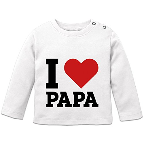I Love Papa Baby Langarmshirt by Shirtcity (Baby Love Daddy T-shirt)