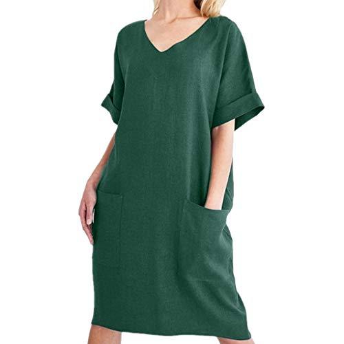 ymi ® Sexy Kurzarm mit Tasche V-Ausschnitt Bleistift Kleid Verbandkleider ()