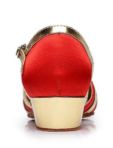 ShangYi Chaussures de danse ( Noir / Bleu / Rouge ) - Non Personnalisables - Talon Bottier - Flocage - Ventre / Latine / Salsa Black