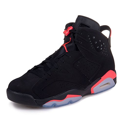 free shipping 91249 cce14 Nike Air Jordan 6 Retro, Chaussures de Sport Homme, Rouge Infrarouge 23-Noir