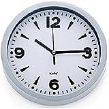 Kela 17161 Paris - Reloj de pared con esfera (plástico, 20 cm), color blanco