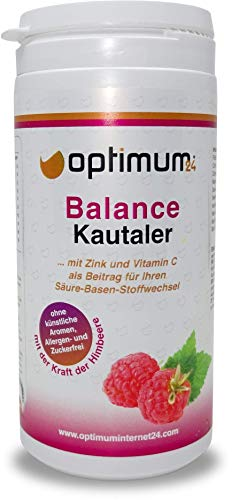 Optimum24 | Leckere Balance-Säure Base Kautaler für den Sport| Calcium-Multivitamine | Balance Kur mit Mineralstoffe-Vitaminen | Magnesium+Mangan+Kupfer+Chrom -