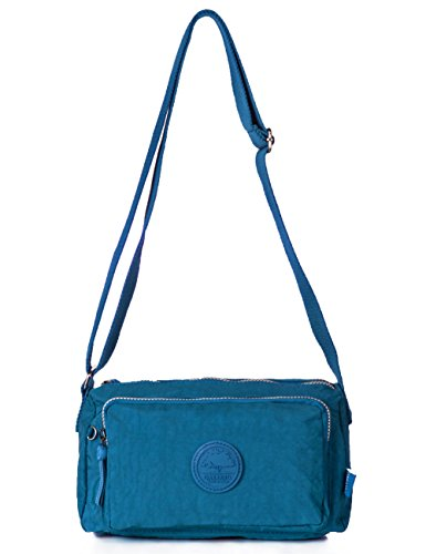 Oakarbo, Borsa a tracolla donna blu 937 Turquoise blue 937 Turquoise blue