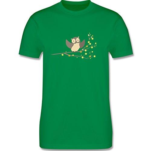 Vögel - kleine Eule - Herren Premium T-Shirt Grün