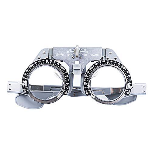 Optische Brille Trial Frame, Metallrahmen Optometrist/Optiker Ausrüstung, Einstellbare Pupillenabstand 54-70MM Trial Wear, Grau