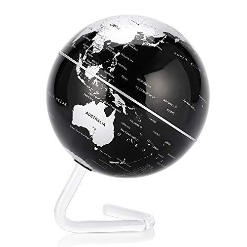 Akozon Globo Giratorio automático de 4', Globo Giratorio automático Esfera giratoria del Mapa terrestre Mundial para Navidad