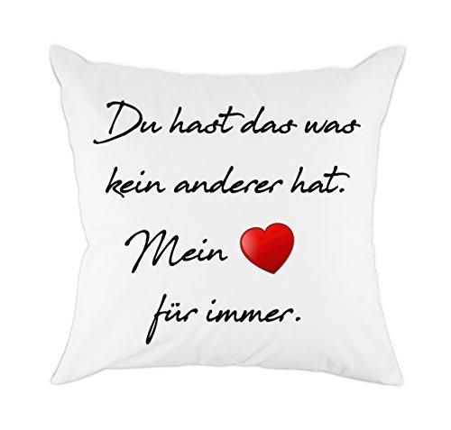 Redland Art Zierkissenbezüge für Liebhaber Freund Freundin Ehemann und Frau Geschenk Baumwolle Polyester Kissen Abdeckung (CFG-058)