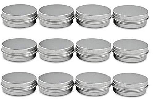 alldosen aus Aluminium mit Schraubdeckel für Nagelkunst, Lippenbalsam, Creme, Beauty-Produkte, Make-up, DIY Kosmetik Behälter, 80ml/ 2.67oz ()