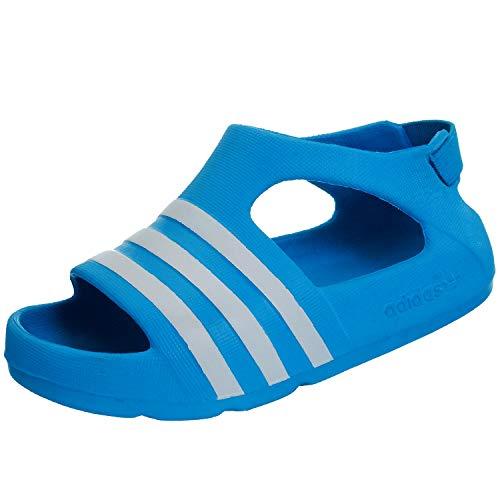 adidas Unisex-Kinder Adilette Play I Zehentrenner, blau, 26 EU