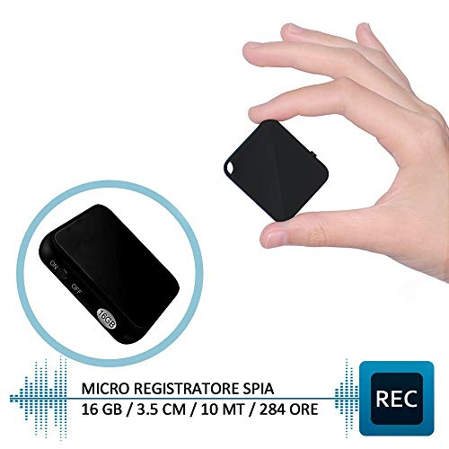 H+Y Mini Registratore Vocale, Registratore Vocale Portatile 16GB, Ricaricabile USB, MP3, Registratore Audio con Attivazione Vocale Ideale per Lezioni, Riunioni, Interviste, Colloqui, Fino a 284 O