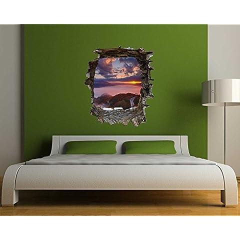 XXL de pared con diseño de amanecer de Japón en 3D-óptica para un gran efecto de pared BS904