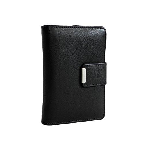 Jennifer Jones classico medio formato donna di cuoio della borsa del portafoglio - presentato da ZMOKA® in vari colori., Chianti-Rust (arancione) - 0 nero