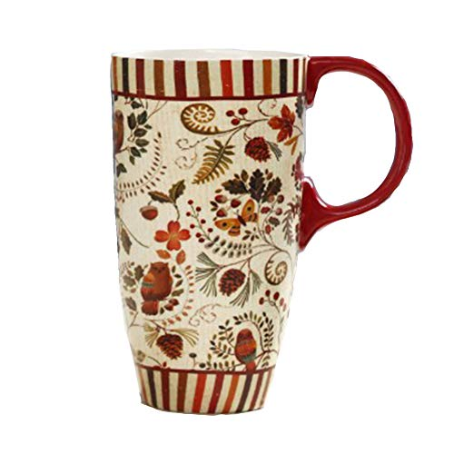 Carmel Mug en céramique - poignée 350ml Classique de Haute qualité Robuste,Red