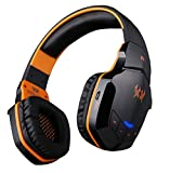 Corprit Sound Intone B3505 Professional Wireless Bluetooth Stereo PC Gaming Headphone Noise-cancelling Headset Volume Control Microphone HiFi Build-in NFC Function for Laptop Computer iPhone 6 iPhone 6 Plus 5S 5C 4S Samsung Galaxy S5 S4 Note 4 LG Flex 2 1 Android Smart Cell phone, MP3 Players and Other Bluetooth Devices(Black Orange)