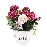 Fenteer Simulation Blumenstrauß aus Kunstblumen für Haus Garten Party Blumenschmuck - Rose Rot 1#