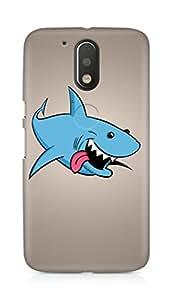 Amez designer printed 3d premium high quality back case cover for Motorola Moto G4 Plus (Shark art protruding tongue)