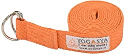Yogasya - Yoga Belt - 8 Feet Length - Yoga Props - For Safe, Perfect & Challenging Yoga Posture - Orange