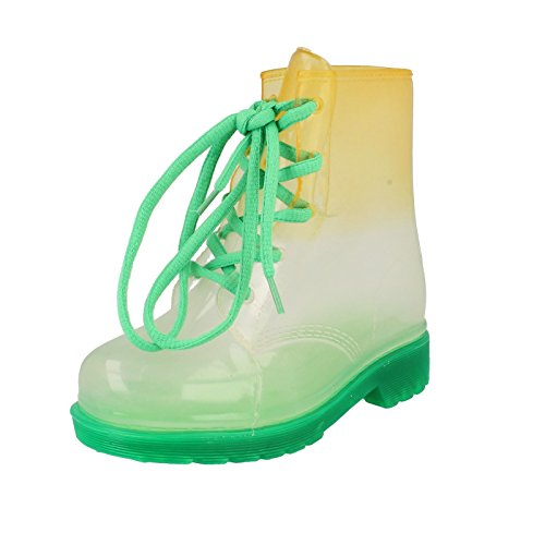 Girls Spot On Transparent Welly Boot