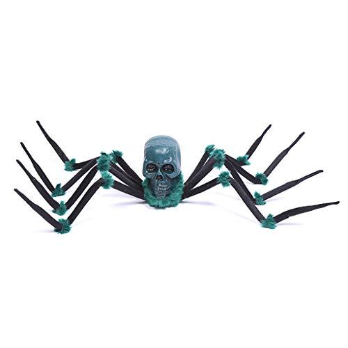 Crawling Riesenspinne, Halloween Haarige Spinne Unheimlich Gefälschte Große Spinne for Outdoor-Dekor Hofdekorationen Unheimlich Plüsch Spinnenrequisiten (Color : - Abgetrennter Kopf Kostüm