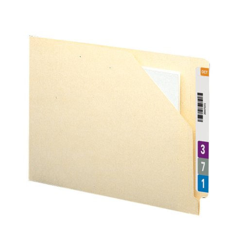 Datei-jacke Tab End (SMEAD Ende Tab Datei Jacke mit Antimikrobielle Produkt Schutz, verstärkte gerade geschnittene Tab, flat-no Expansion, Letter-Format, Manila, 100Pro Box (75715))