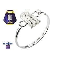 Animewild Doctor Who Stainless Steel Doctor Who Tardis Bangle Bracelet.