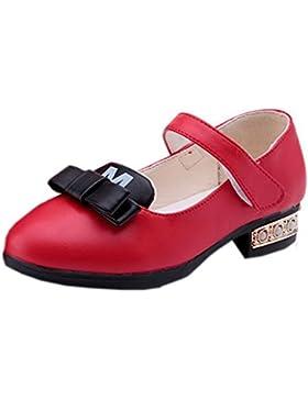 La vogue Merceditas Sandalias Velcro Shoes Zapatillas para las Niñas con Lazo