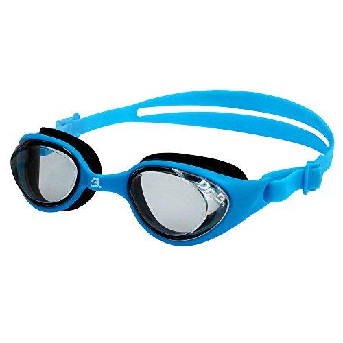 Barracuda Dr. B FUTURE RX JR - Optische Schwimmbrille mit Sehstärke (diverse zwischen -1.5 bis - 4.0) für Kinder 2-6, 100% UV-Schutz, Anti-Beschlag-Beschichtung, wasserdicht, aus hautverträglichem Kunststoff inklusive KOSTENLOSEM Etui #73195 Blau (-3.5) - Speedo Goggles Jr