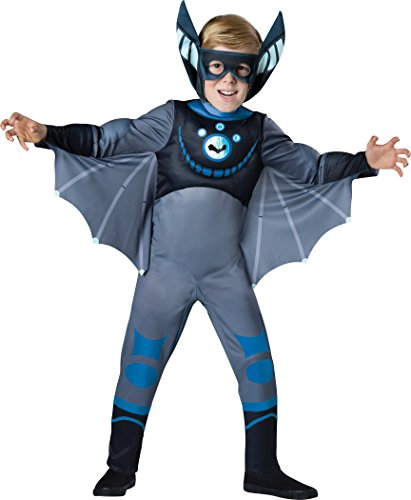 Wild Kratts Child Muscle Chest Costume Blue Martin Kratt Bat Size 4 (Wild Kratts Kostüm)
