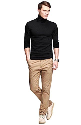 fanideaz Men's Plain Regular Fit T-Shirt (FUNK0001B_M_Black)