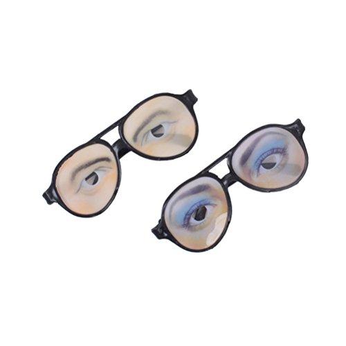 -Brille lustige Verkleidung Brillen für Halloween Kostüm Scherzartikel ()