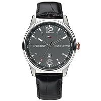 Tommy Hilfiger 1710314 - Reloj analógico de cuarzo para hombre con correa de piel, color negro de Tommy Hilfiger