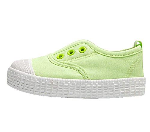 d97bdfdba803 YC gut Jungen Mädchen Kinder Leinwand Schuhe-Sneakers, knöchelfrei Sneakers  Unisex Schuhe Flach Pumpen